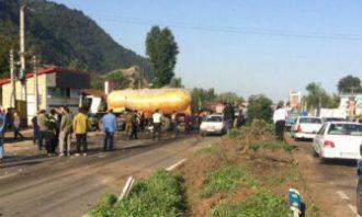 پلیس راه-تصادف زنجیره ای-گیلان